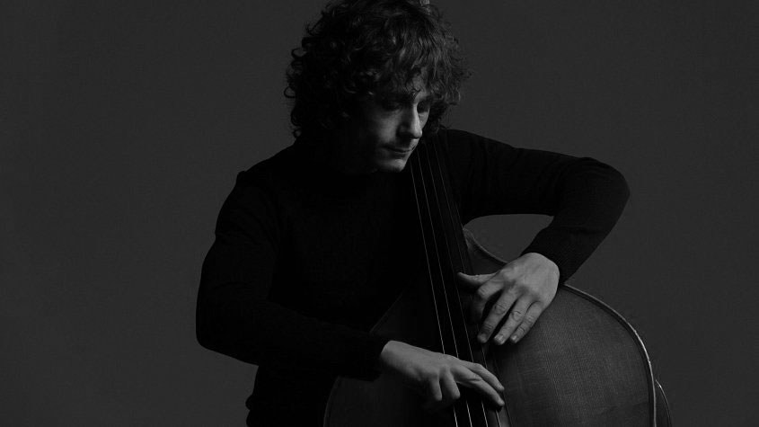 Peter Morris performing on double bass